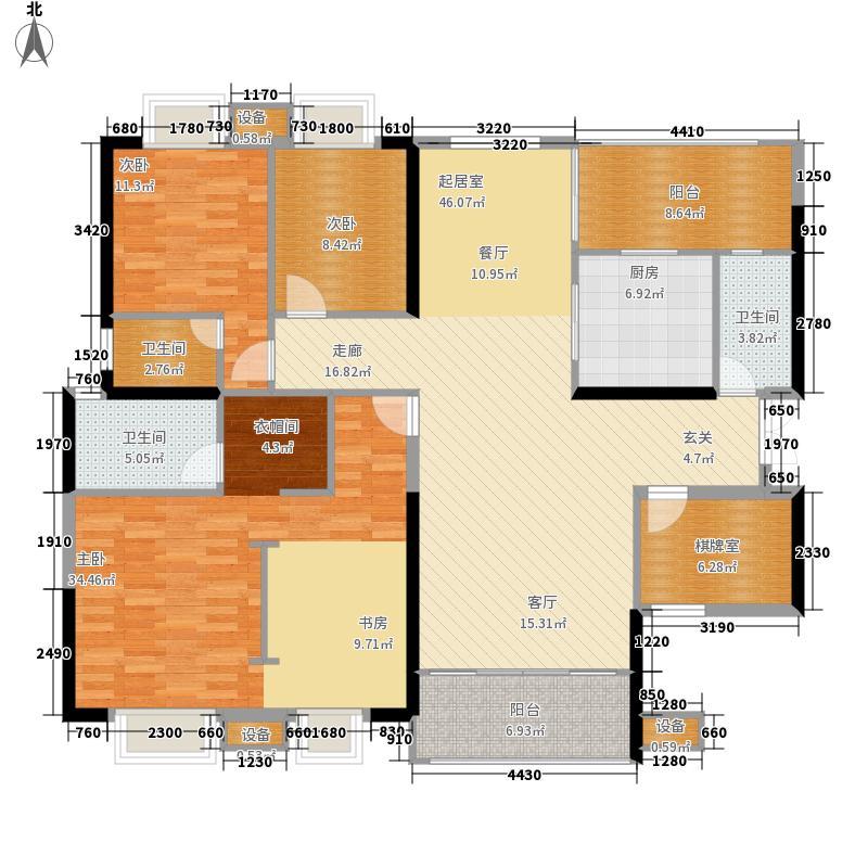 嘉和城134.00㎡c11户型5室2厅