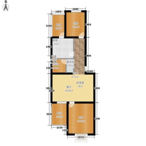 新新家园2室0厅1卫1厨80.00㎡户型图