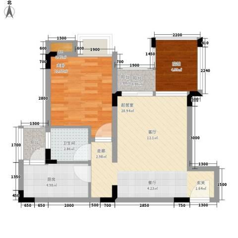 鑫腾水云间1室0厅1卫1厨70.00㎡户型图