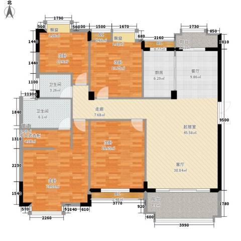 联泰棕榈庄园4室0厅2卫1厨155.00㎡户型图