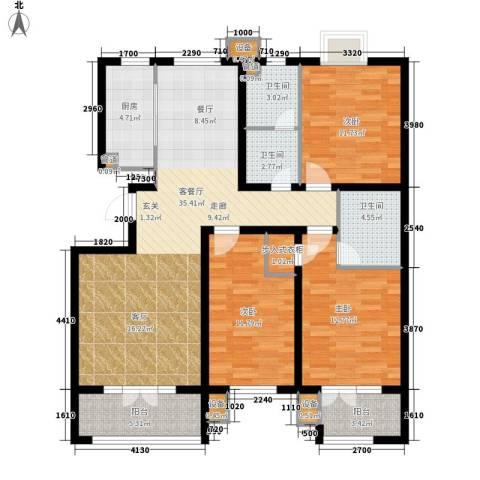 美泉新苑3室1厅3卫1厨120.00㎡户型图