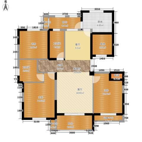 宇恒明月星城3室1厅2卫1厨131.00㎡户型图