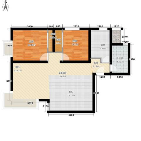 复兴之门2室0厅1卫1厨98.00㎡户型图
