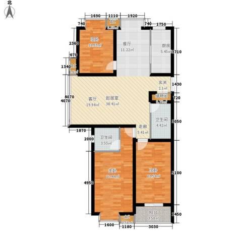 乐城半岛3室0厅2卫1厨127.00㎡户型图