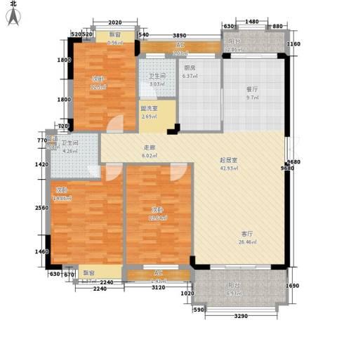 联泰棕榈庄园3室0厅2卫1厨124.00㎡户型图