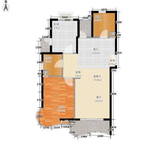 芳草轩1室1厅1卫1厨93.00㎡户型图