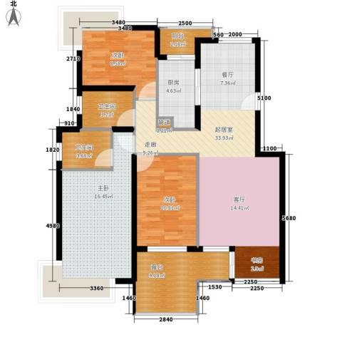 安华里3室0厅2卫1厨106.00㎡户型图