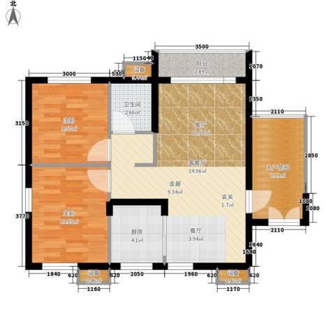 城南时代2室1厅1卫1厨79.00㎡户型图