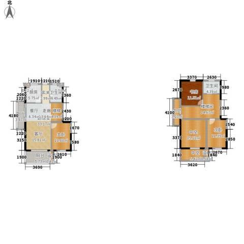 正荣财富中心3室0厅2卫1厨130.90㎡户型图
