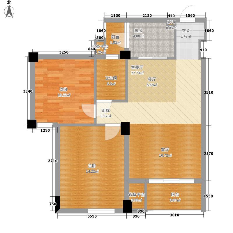 香樟林82.00㎡-户型2室2厅