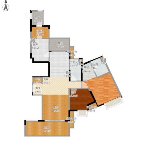 恒基誉珑岛2室1厅2卫1厨197.00㎡户型图