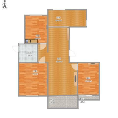 皇都佳苑3室1厅1卫1厨115.00㎡户型图