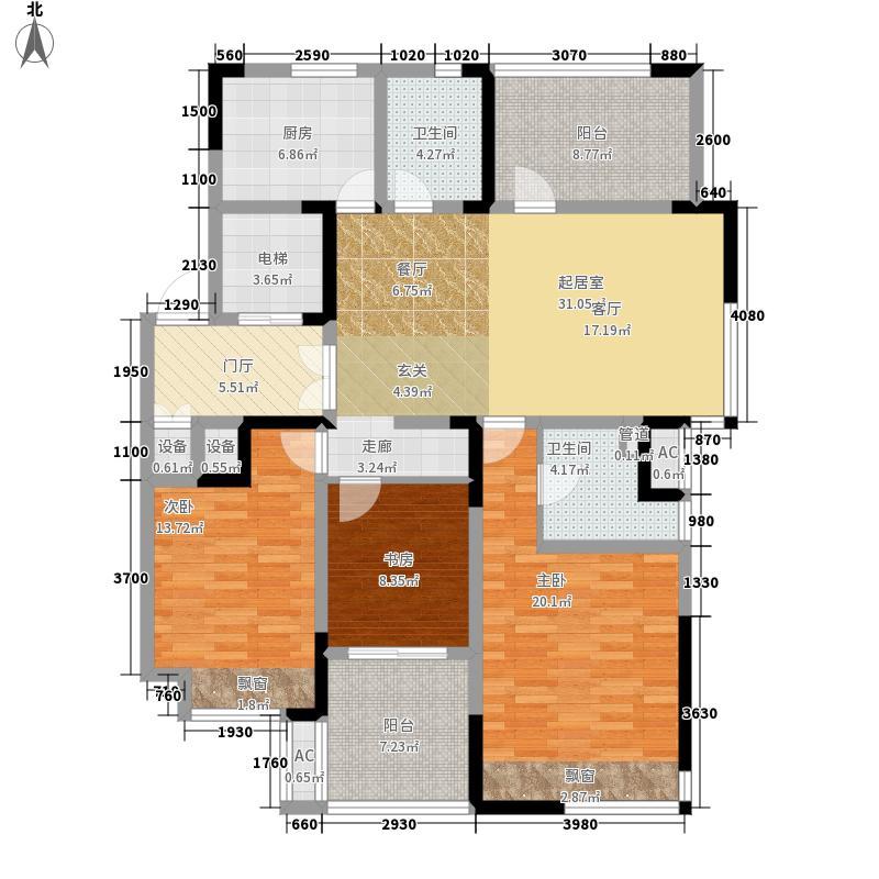 高成莱茵3135.74㎡A5户型3室2厅