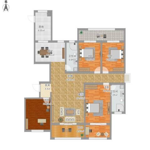陕西巷胡同4室1厅2卫1厨249.00㎡户型图