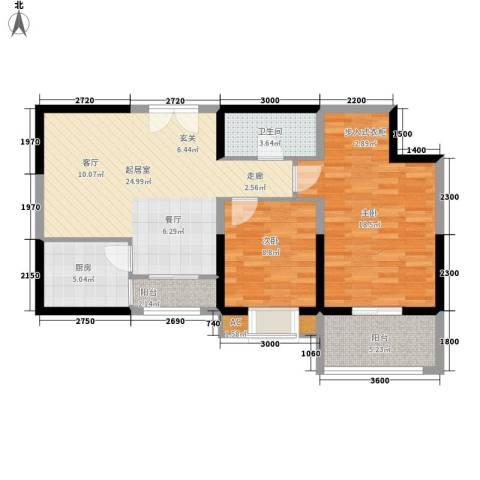 唐延鑫苑2室0厅1卫1厨100.00㎡户型图