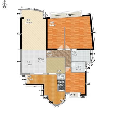 中信君庭1室0厅3卫0厨181.00㎡户型图