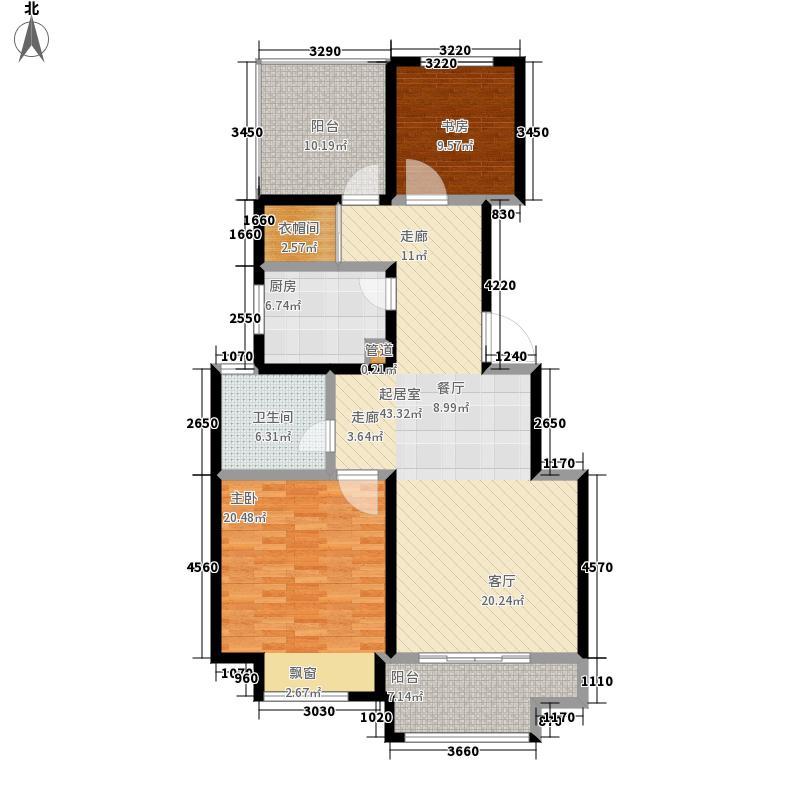 青枫国际121.61㎡B户型2室2厅