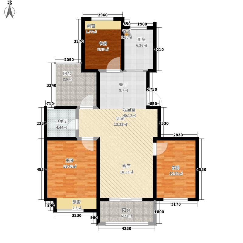青枫国际121.14㎡E户型3室2厅