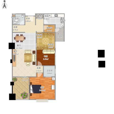四达新时代广场2室1厅2卫1厨160.00㎡户型图