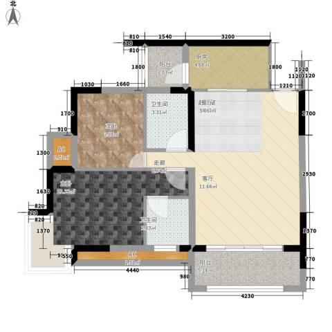 天邻风景2室0厅2卫1厨71.00㎡户型图
