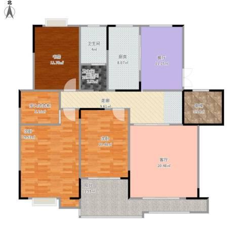 奥体新城海棠园3室1厅2卫1厨169.00㎡户型图