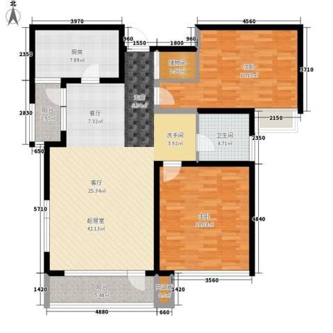 腾远胜景花园2室0厅1卫1厨115.00㎡户型图