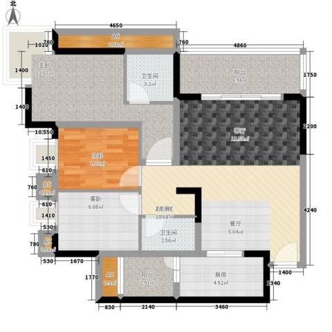 天邻风景3室0厅2卫1厨93.00㎡户型图