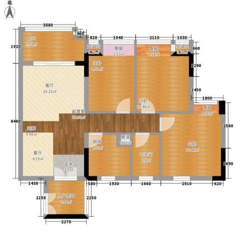 城央御景3室0厅1卫1厨95.00㎡户型图