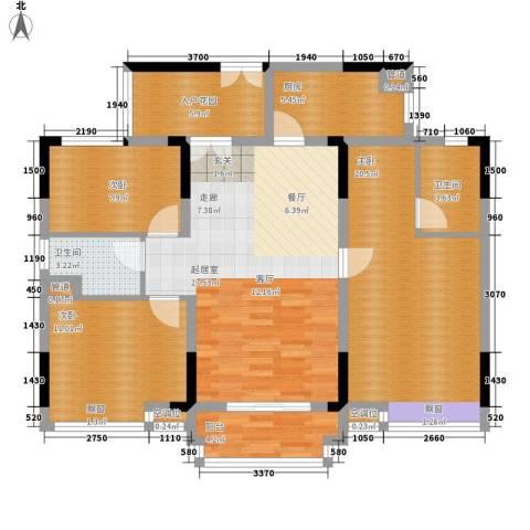 城央御景3室0厅2卫1厨127.00㎡户型图