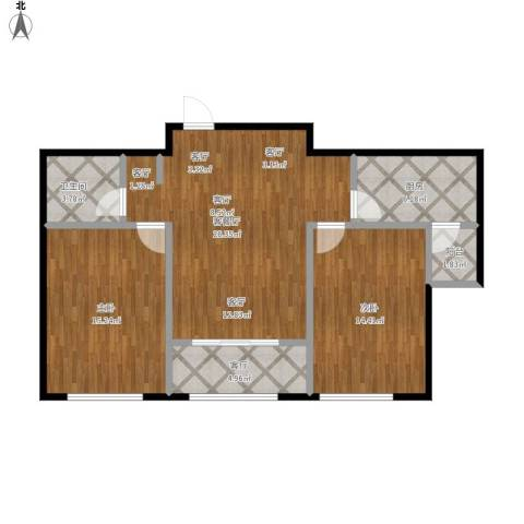 中海金石公馆2室2厅1卫1厨101.00㎡户型图