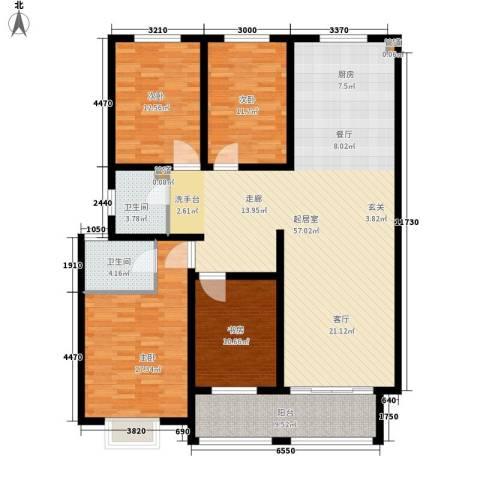 逸景和公馆4室0厅2卫0厨135.00㎡户型图