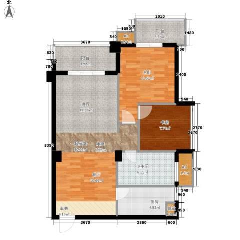 山水华景2室0厅1卫1厨79.00㎡户型图