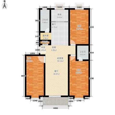 丰河苑东区3室0厅2卫1厨142.00㎡户型图