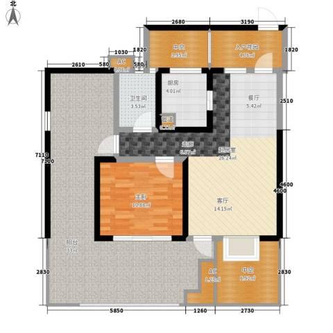 蓝光凯丽香江1室0厅1卫1厨95.10㎡户型图