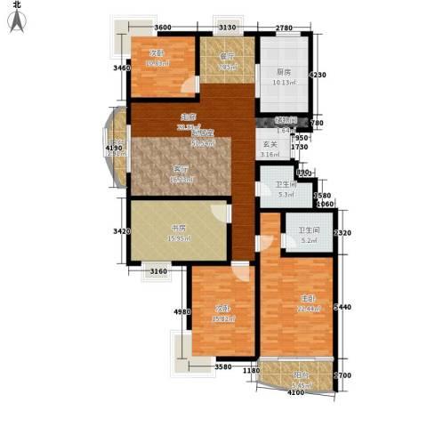 融基湖光山色4室0厅2卫1厨167.00㎡户型图