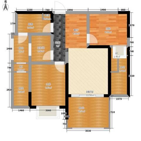 蓝光凯丽香江2室0厅1卫1厨72.00㎡户型图