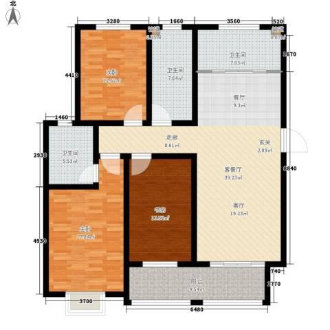逸景和公馆3室1厅3卫0厨125.00㎡户型图