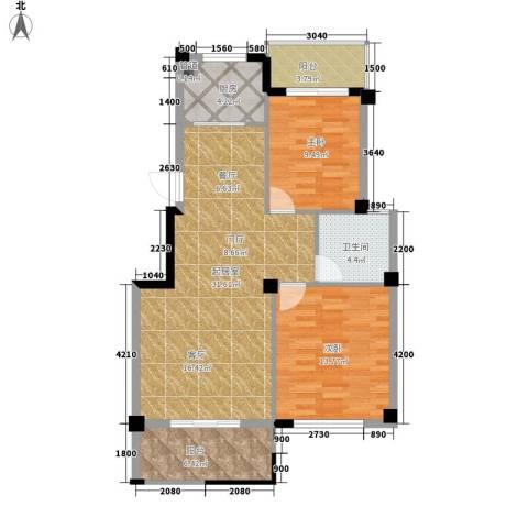 江湾华庭2室0厅1卫1厨93.00㎡户型图