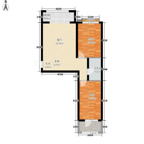 东湾假日2室0厅1卫0厨99.00㎡户型图