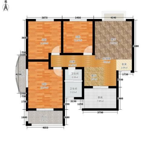 融基湖光山色3室0厅2卫1厨117.00㎡户型图