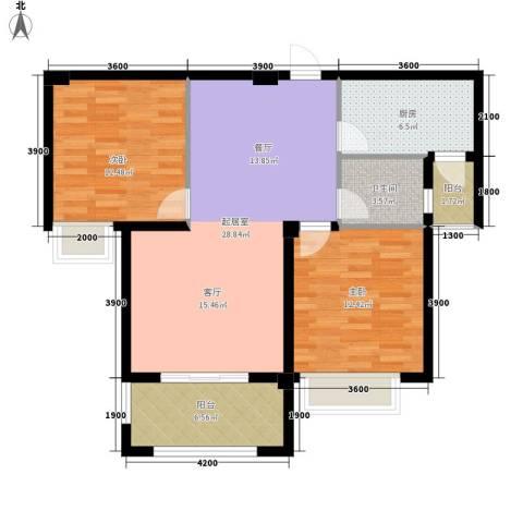 东方今典中央城2室0厅1卫1厨99.00㎡户型图