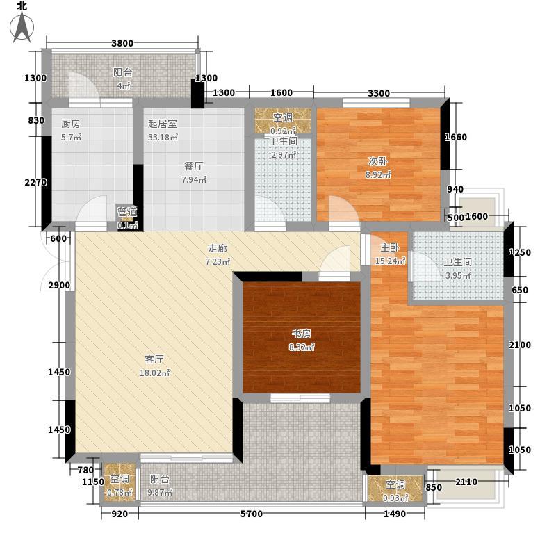强辉金色池塘115.61㎡四期八号楼面积11561m户型