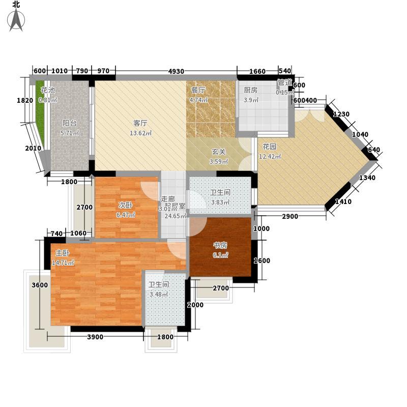 红牌楼广场97.20㎡C3'型面积9720m户型
