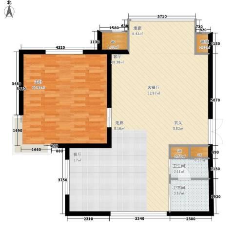 刁家村小区1室1厅2卫0厨96.00㎡户型图