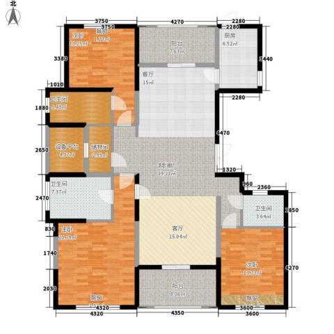 棕榈湾3室1厅3卫1厨167.00㎡户型图