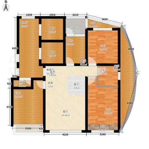龙泽尚品3室1厅1卫1厨116.00㎡户型图