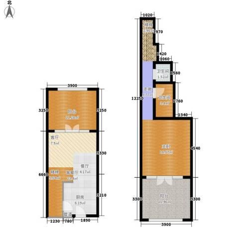 一杯澜1室1厅2卫0厨94.00㎡户型图