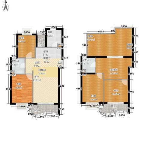 芳草轩2室1厅2卫1厨155.00㎡户型图