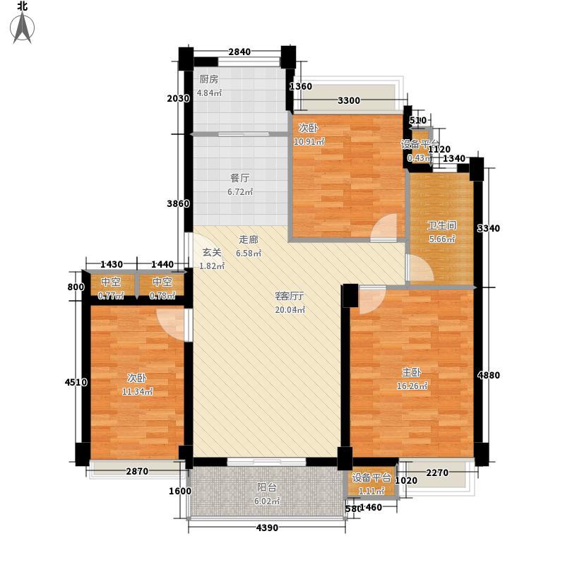 世纪花园119号楼105.00㎡世纪花园面积10500m户型