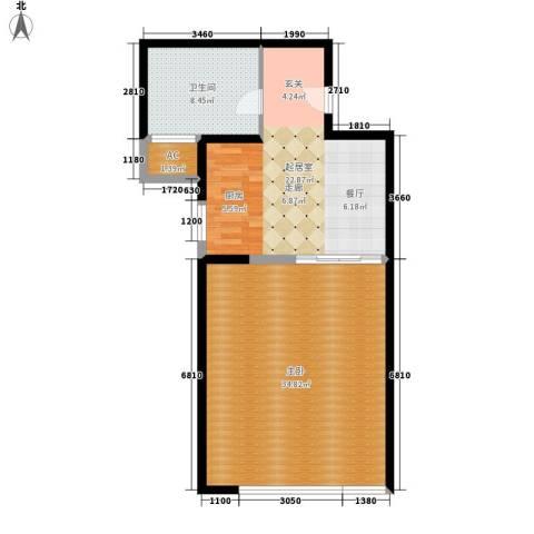 三元二村1室0厅1卫0厨75.00㎡户型图
